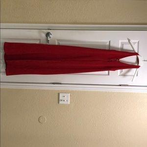 Backless Red Formal Dress
